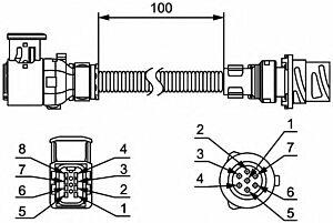 Cable Set Tail Light Conversion 8KA211923-002 by Hella