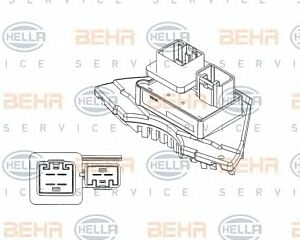 A/C Blower Regulator and resistor 5HL351321-231 / ABR 35 000P 70815827 by Behr