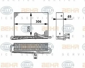 Air Conditioning Evaporator AE 74 000P / 8FV351330-121 / 70818566 by Behr
