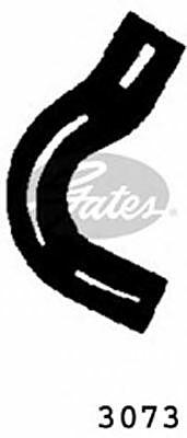 Curved Radiator Hose 155mm X 25 Gates 3073