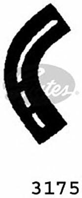 Curved Radiator Hose 160mm X 33 Gates 3175