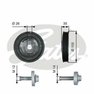 GATES Torsional Vibration Damper Kit TVD1007A