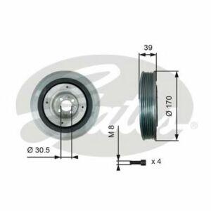 GATES Torsional Vibration Damper Kit TVD1013A