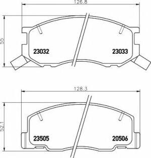 Mintex Car Brake Pads front MDB1909