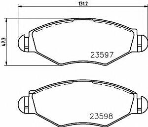 Mintex Brake Pads front MDB2131