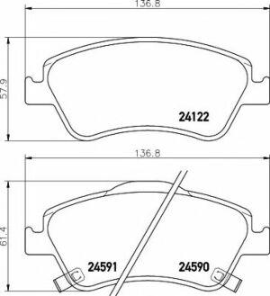 Mintex Car Brake Pads front MDB2923