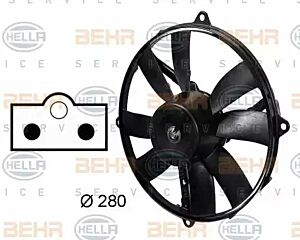 Air Conditioning fan 8EW009158-751 by BEHR Left