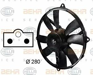 Air Conditioning fan 8EW009158-761 by BEHR Right