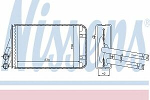 Nissens Radiator Heat Matrix 70229