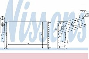 Nissens Radiator Heat Matrix 70224