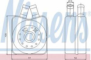 Nissens Oil Cooler Transmission engine 90606