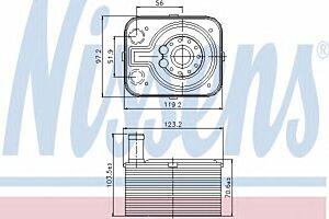 Nissens Oil Cooler Transmission engine 90655