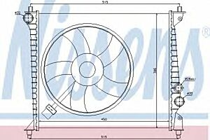 60425 Nissens Car Radiator Thermal engine cooling
