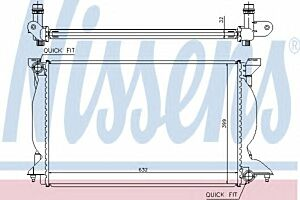 60302A Nissens Radiator Thermal engine cooling
