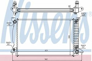 60314A Nissens Radiator engine cooling