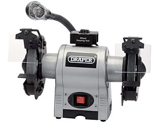 Draper 150mm 370W 230V Bench Grinder with Worklight   5095
