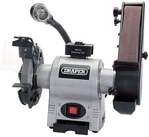 DRAPER 150mm 370W 230V Bench Grinder with Sanding Belt and Worklight   5096