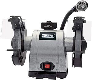 Draper 200mm 550W 230V Heavy Duty Bench Grinder with Worklight   5097