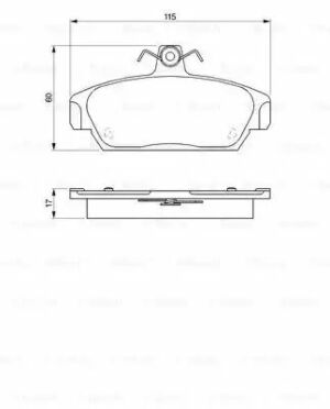 Bosch 0986424092 BP037 Brake Pad Set Disc Brake Front Axle