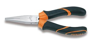 Beta Tools 100BM Long Flat Knurled Nose Pliers 160mm BiMaterial Handle 010080036
