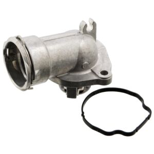 104757 Thermostat with housing and gasket by Febi Bilstein