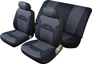 Car Seat Cover Celsius - Set - Black/Grey COSMOS 14002C