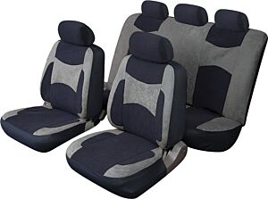 Car Seat Cover Escape - Set - Black/Grey COSMOS 14102A