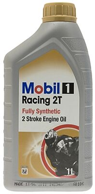 1 Racing 2T - 2 Stroke - Fully Synthetic - 1 Litre 142348 MOBIL