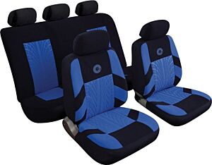 Car Seat Cover Precision - Set - Black/Blue 14401 REZISTANZ