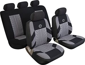 Car Seat Cover Precision - Set - Black/Grey  14402 REZISTANZ