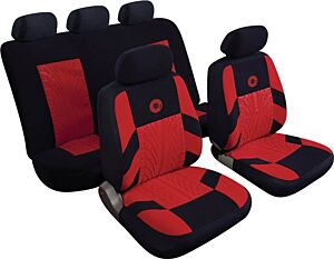 Car Seat Cover Precision - Set - Black/Red 14406 REZISTANZ
