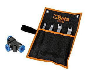 Beta Tools 1457/B4 4pc Tool Kit for Releasing Rilsan Hose Fittings 014570024