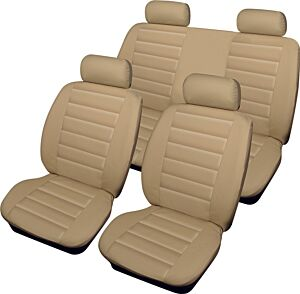 Car Seat Cover Leatherlook - Set - Beige 14674 COSMOS