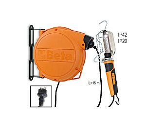 Beta Tools 1843BM Automatic Cable Reel with 230v Inspection Lamp | 018430101