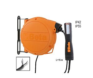 Beta Tools 1846LED/ABM Automatic Cable Reel w/ LED inspection Lamp 12-24V AC/DC