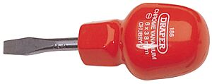 6mm x 38mm Plain Slot Flared Tip Cabinet Pattern Chubby Screwdriver (Loose) 186B 19497