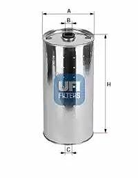 2001600 UFI Oil Filter Oil Cartridge