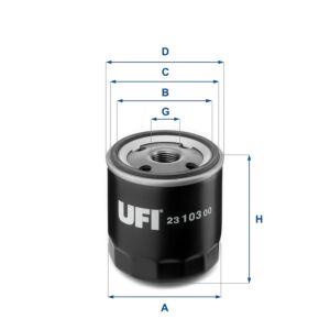 2310300 UFI Oil Filter Oil Spin-On