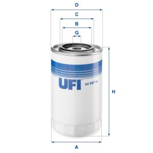 2310701 UFI Oil Filter Oil Spin-On