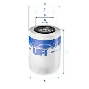 2310801 UFI Oil Filter Oil Spin-On