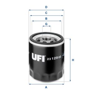2312902 UFI Oil Filter Oil Spin-On