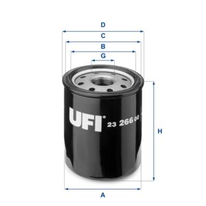 2326600 UFI Oil Filter Oil Spin-On