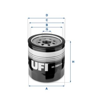 2328000 UFI Oil Filter Oil Spin-On