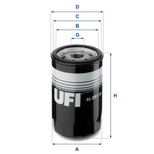 23.291.00 UFI Oil Filter Oil Spin-On