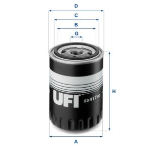 2341700 UFI Oil Filter Oil Spin-On