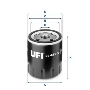 2343900 UFI Oil Filter Oil Spin-On