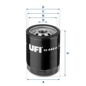 2344500 UFI Oil Filter Oil Spin-On
