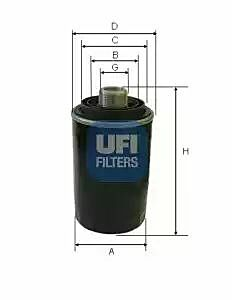 2349300 UFI Oil Filter Oil Spin-On