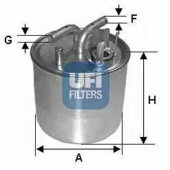 24.002.00 UFI Fuel Filter