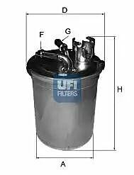 24.004.00 UFI Fuel Filter